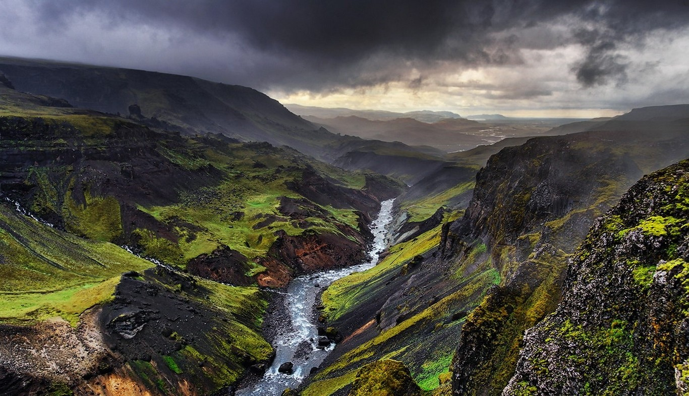Full Hd 3d Wallpapers 1920x1080 Free Download For Mobile Landscape Nature Storm Iceland River Mountain Canyon