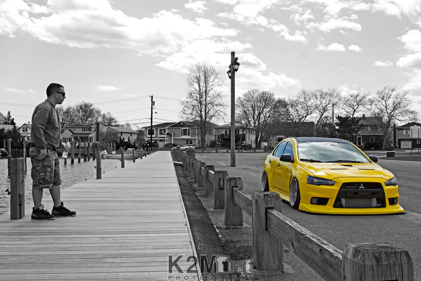Evo 10 Wallpaper Car Yellow Cars Selective Coloring Mitsubishi Lancer Evo X