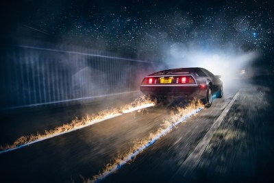 race Cars, Road, Back To The Future, Fire Wallpapers HD / Desktop and Mobile Backgrounds