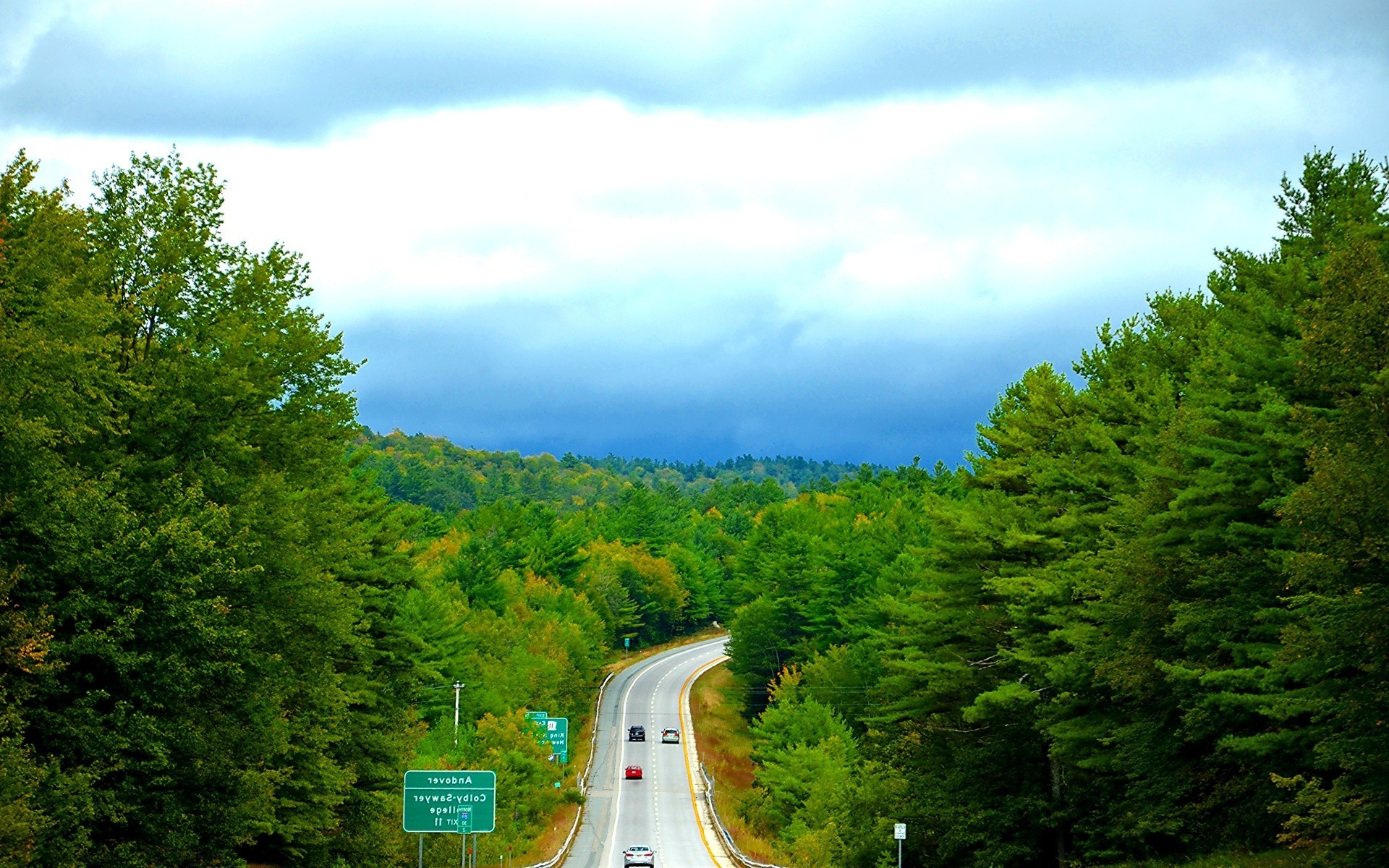 Cars Movie Hd Wallpapers 1080p Nature Landscape Road Forest Road Sign Vermont