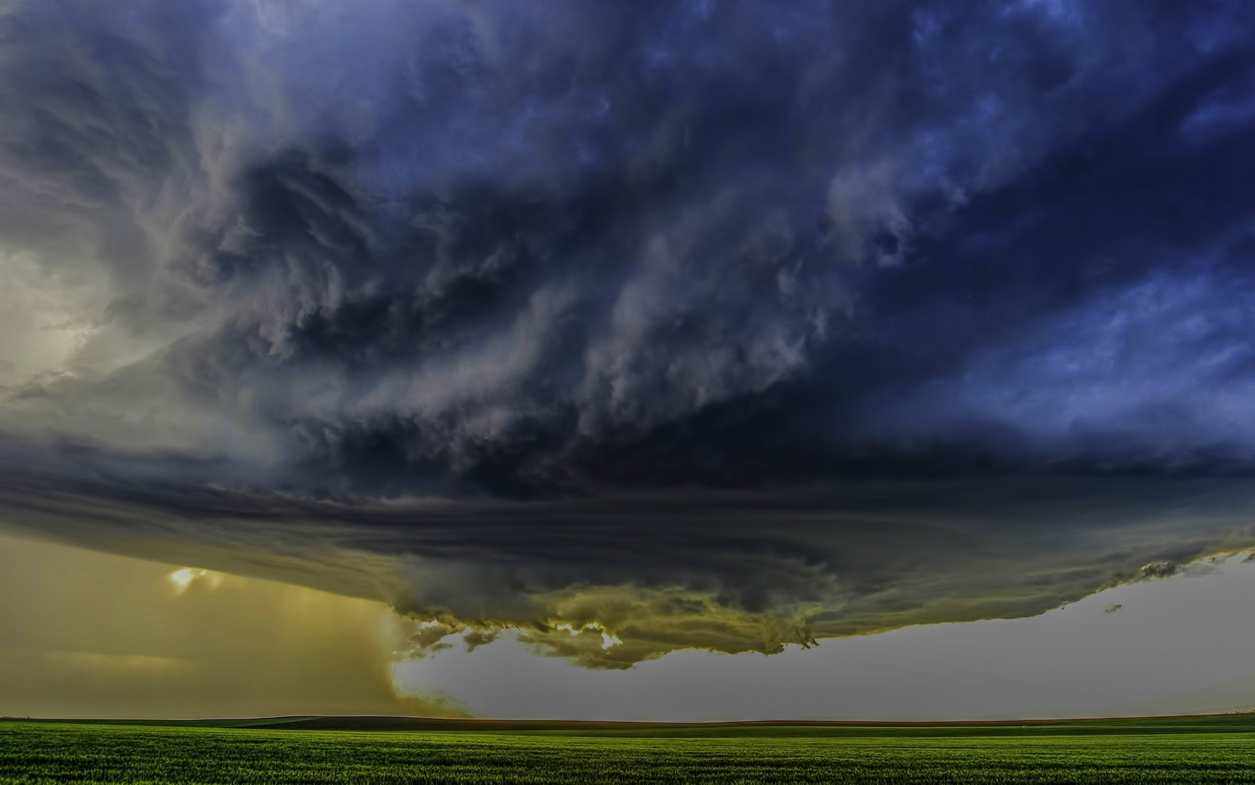 Download Fall Wallpaper For Laptops Nature Landscape Supercell Storm Clouds Field Wind