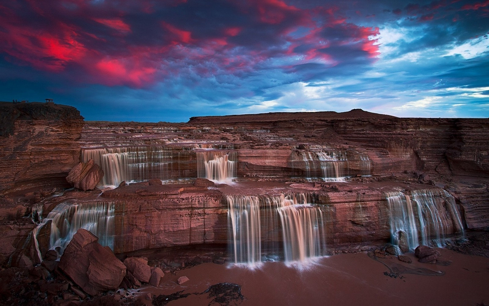 3d Love Wallpapers Download For Mobile Nature Landscape Waterfall Sunset Arizona Erosion