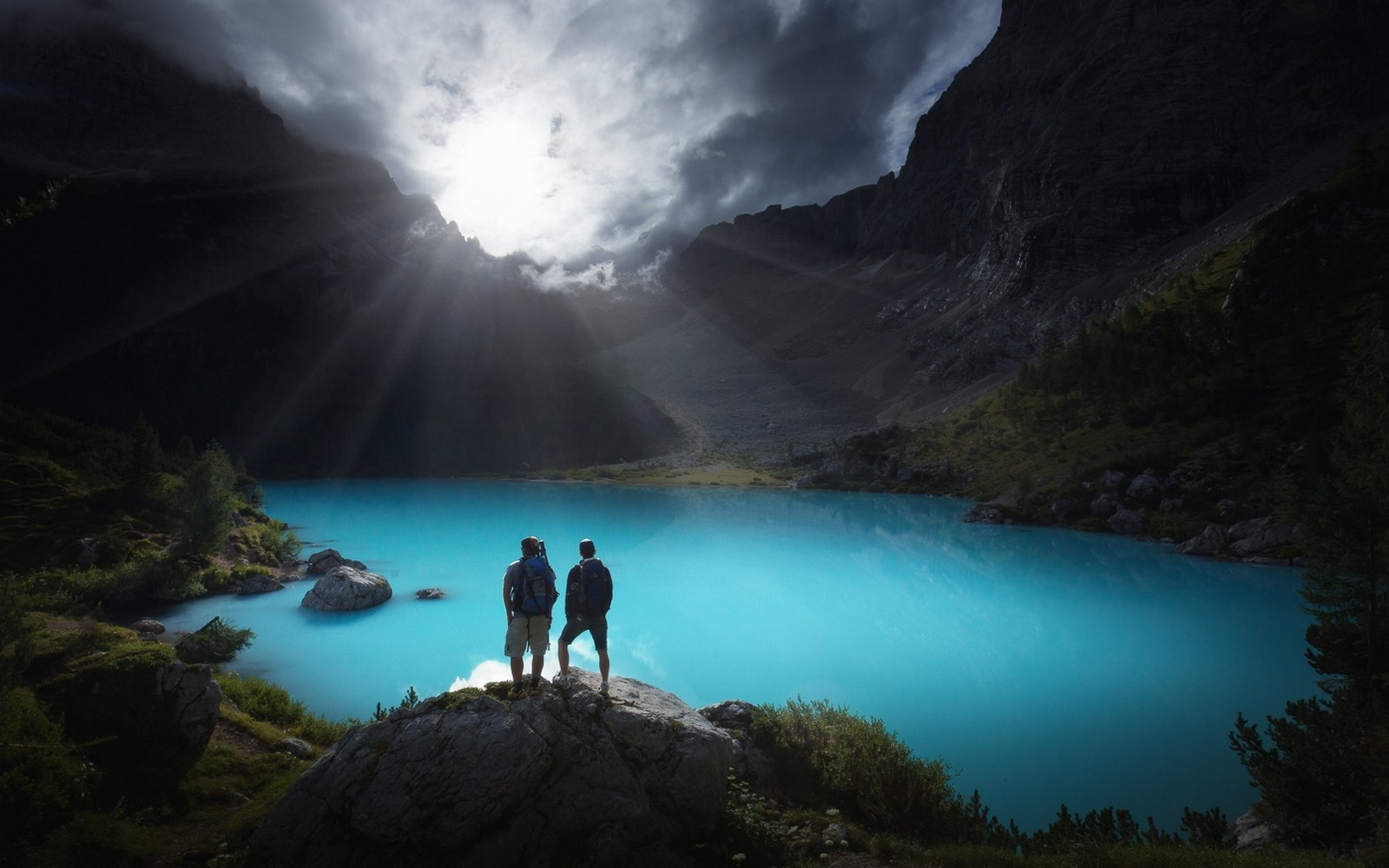 3d Love Couple Wallpaper Download Lake Sunrise Mountain Hiking Italy Alps Nature