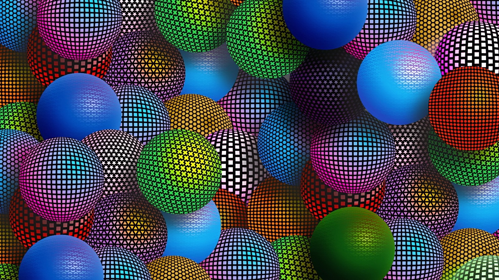 Polka Dots Wallpaper For Iphone Sphere Ball Abstract Digital Art Wallpapers Hd