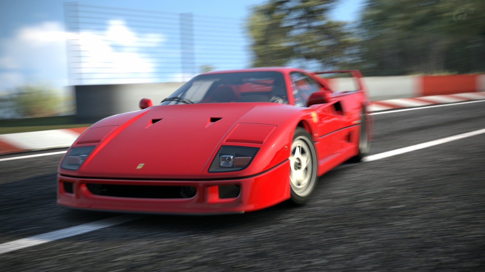 Super Car 5760x1080 Wallpaper Gran Turismo 6 Playstation 3 Car Ferrari Ferrari F40