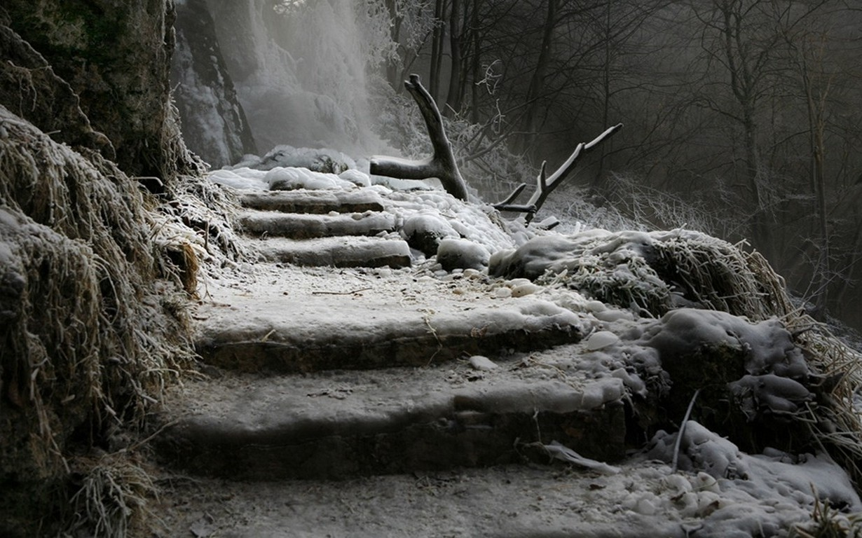 New 3d Wallpapers Free Download For Mobile Landscape Nature Winter Waterfall Germany Stairs