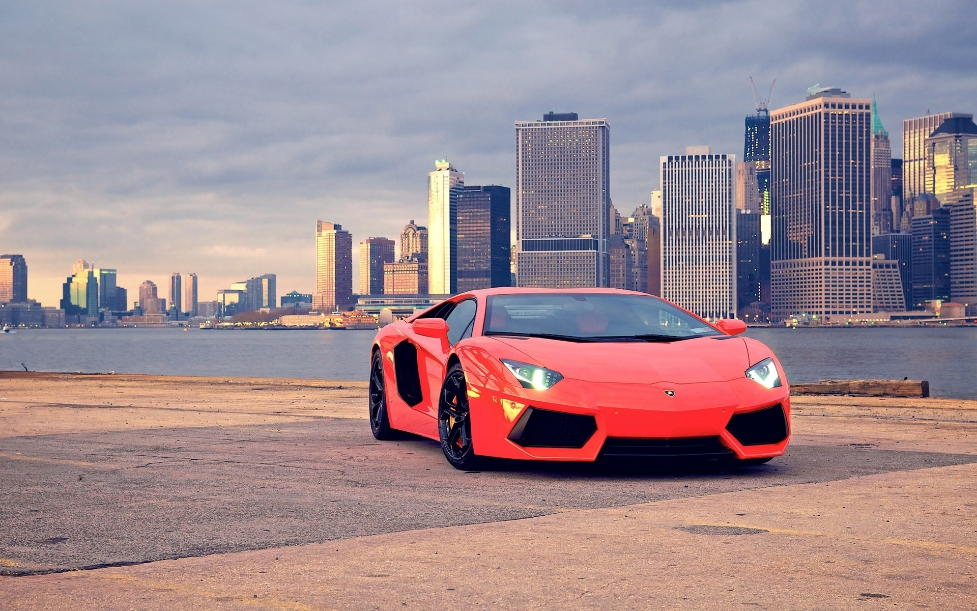 Lamborghini Car Wallpaper Hd Download Car Lamborghini Lamborghini Aventador City Cityscape