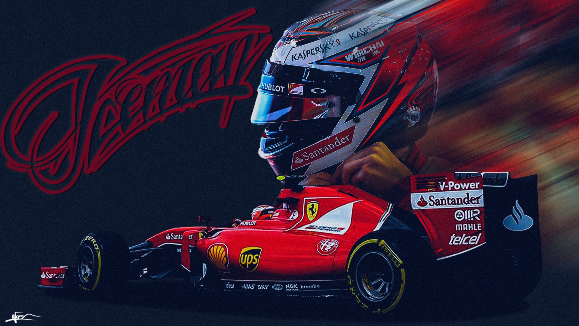 New 3d Abstract Wallpapers Kimi Raikkonen Kimi Raikkonen Ferrari Scuderia Ferrari
