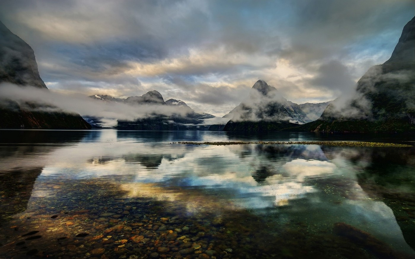Spring Girls Wallpapers Nature Landscape Milford Sound New Zealand Lake Fjord