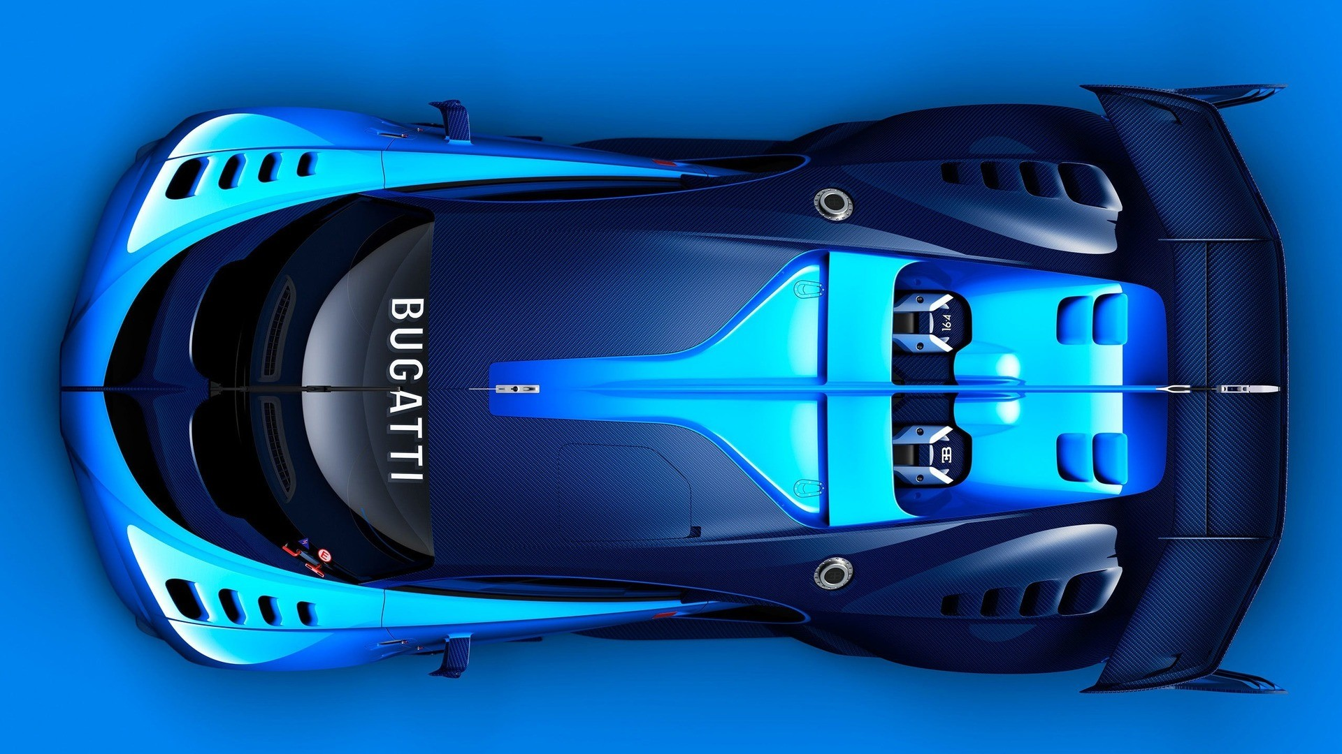 Wallpaper 3840x1080 Car Car Sports Car Concept Cars Blue Bugatti Bugatti