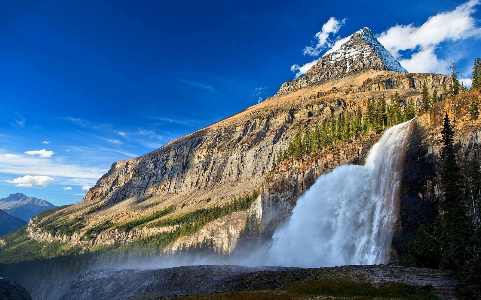 3d Wallpapers Hd Full Hd 1080p 1920x1080 Landscape Nature Canada Waterfall Mountain Forest