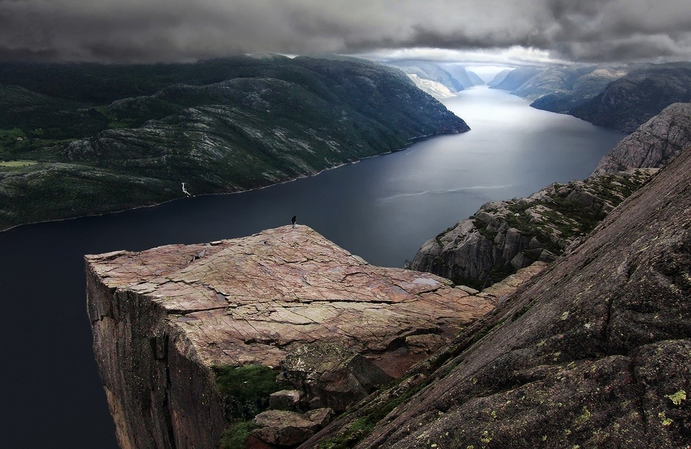 3d Wallpaper Net Nature Landscape Preikestolen Norway Fjord Mountain