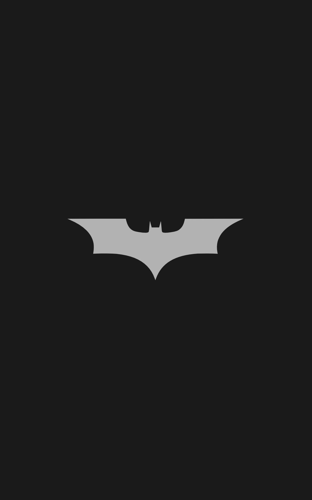 Marvel Super Heroes 3d Wallpaper Batman Logo Batman Minimalism Portrait Display
