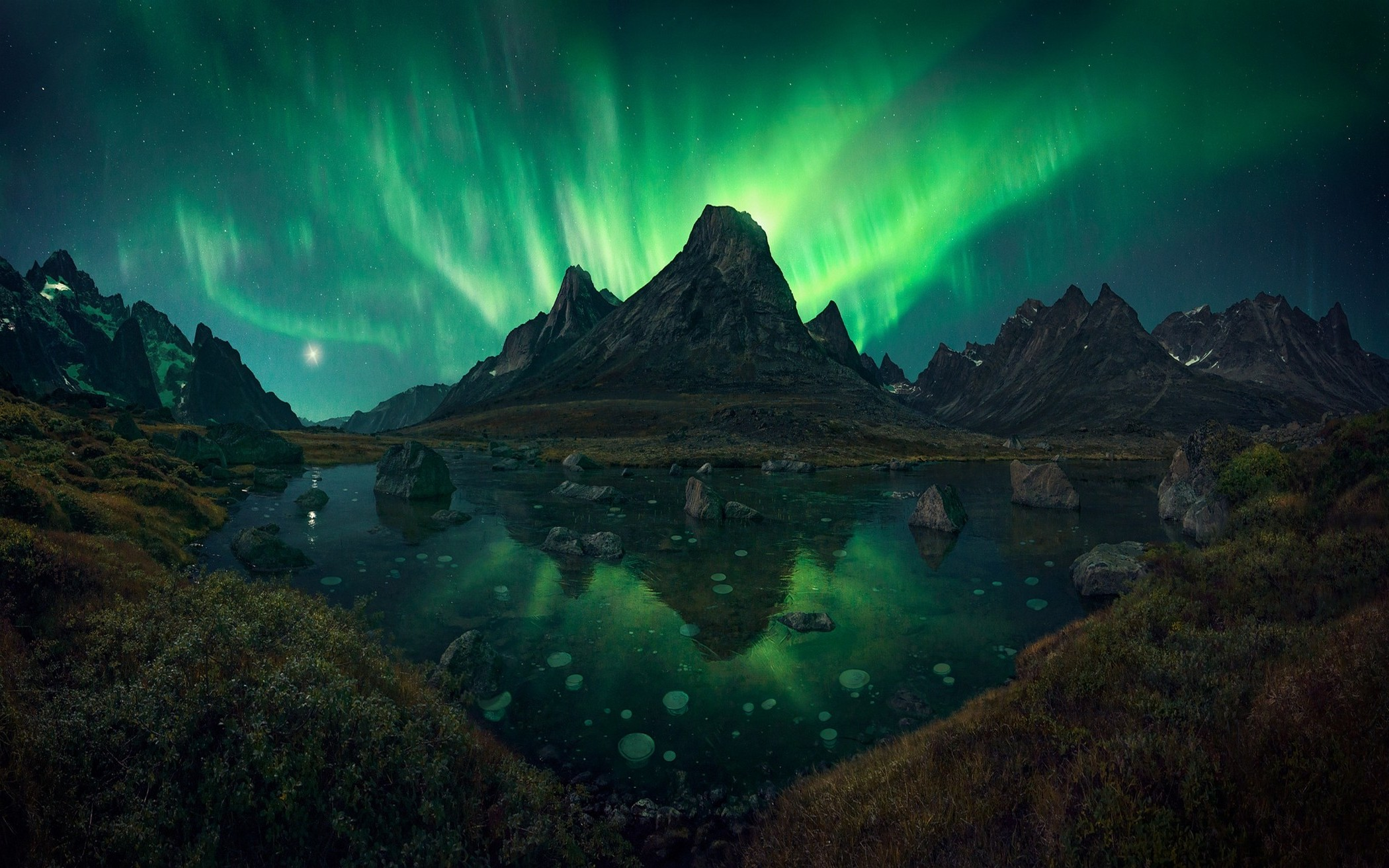 3d Wallpapers For Home Screen Nature Landscape Aurorae Mountain Lake Grass Shrubs