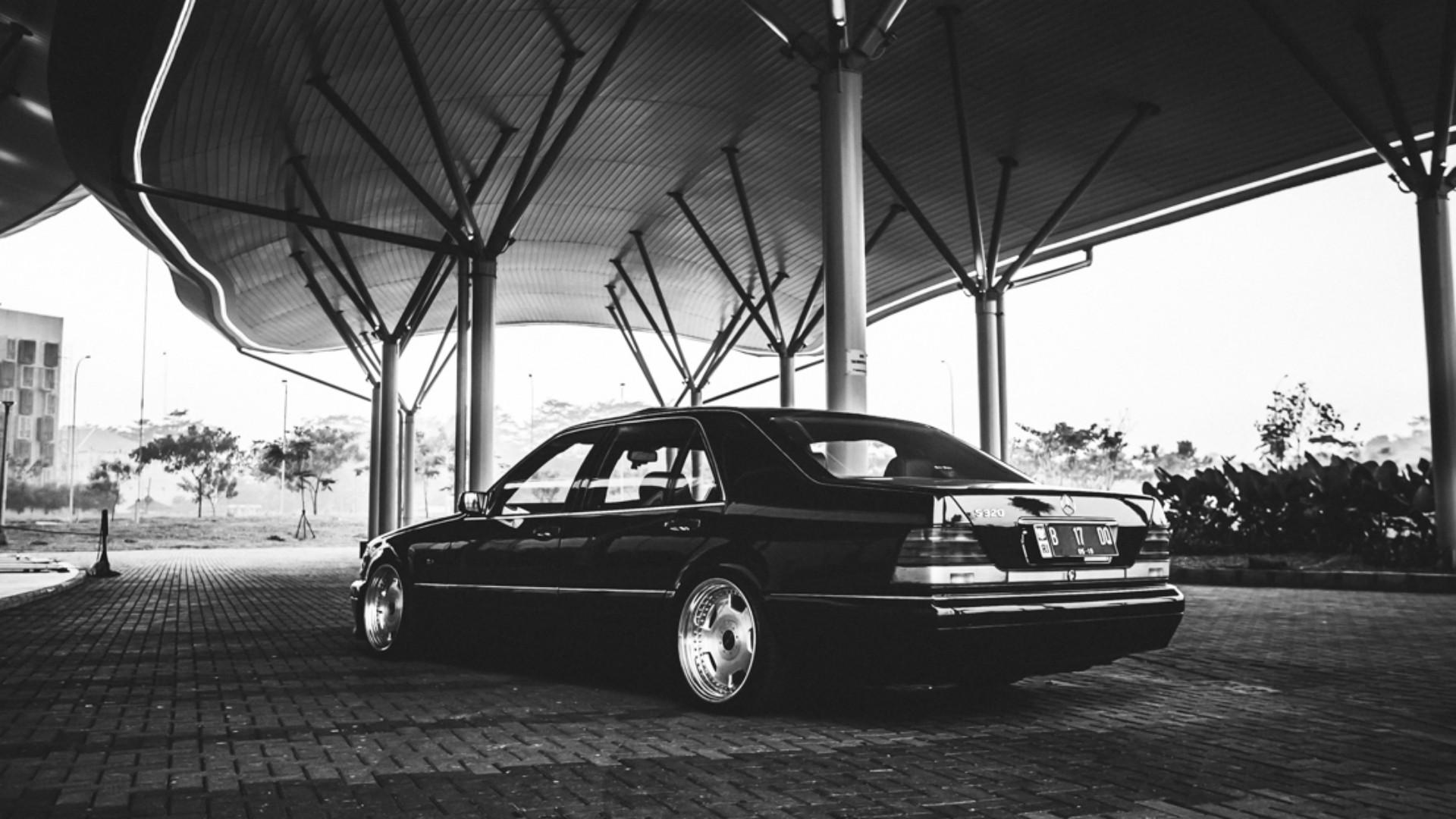 Drift Car Wallpaper Mobile Mercedes Benz Mercedes Amg Monochrome Stance Low