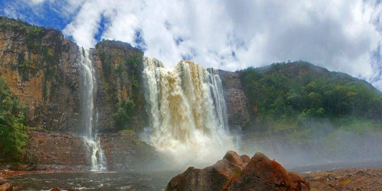 Angel Falls Wallpapers Desktop Nature Landscape Canaima National Park Venezuela
