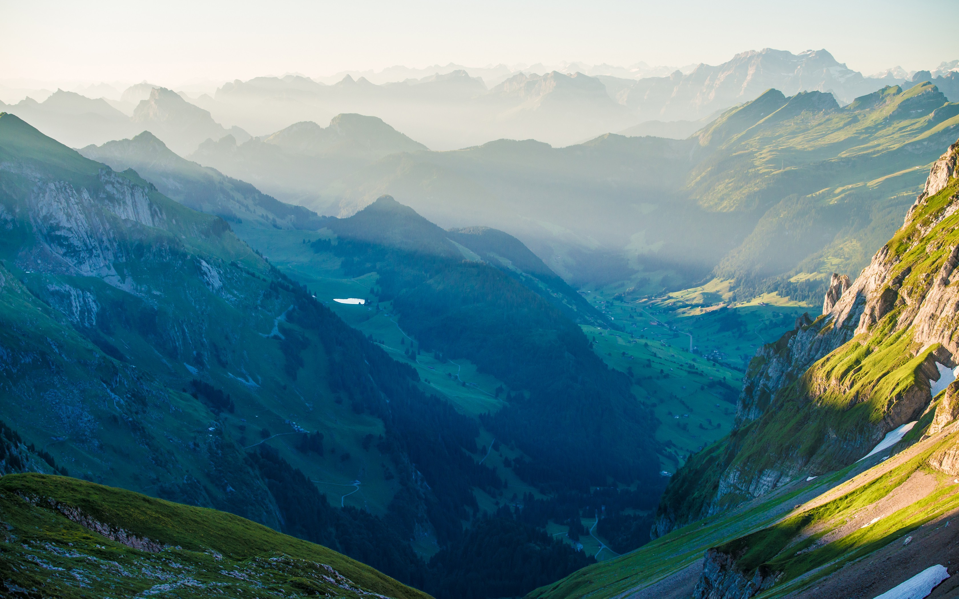 Full Hd 3d Wallpapers 1920x1080 Free Download For Mobile Nature Landscape Mountain Mist Sunrise Switzerland