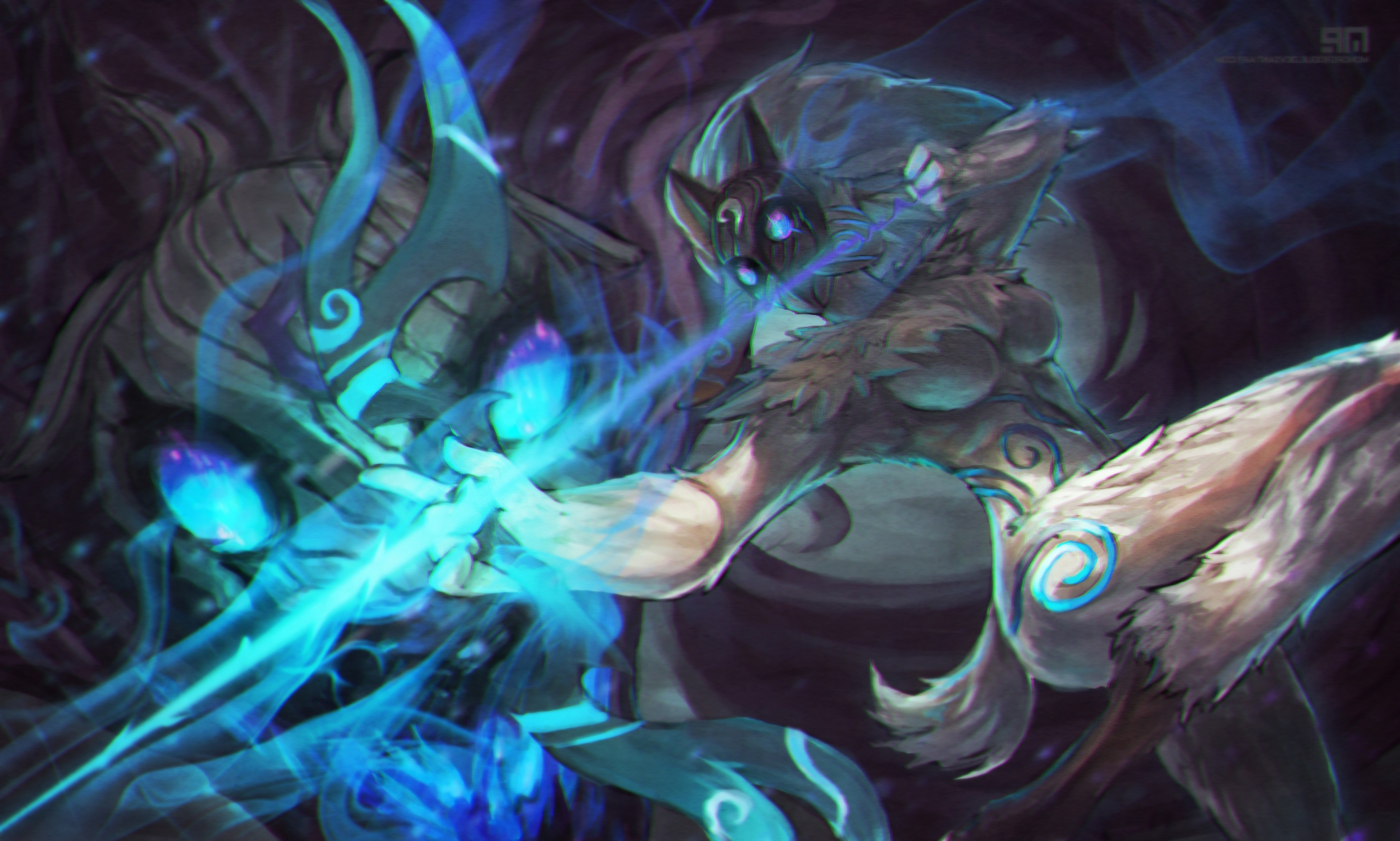 Dual Monitor Animated Wallpaper League Of Legends Kindred Wallpapers Hd Desktop And