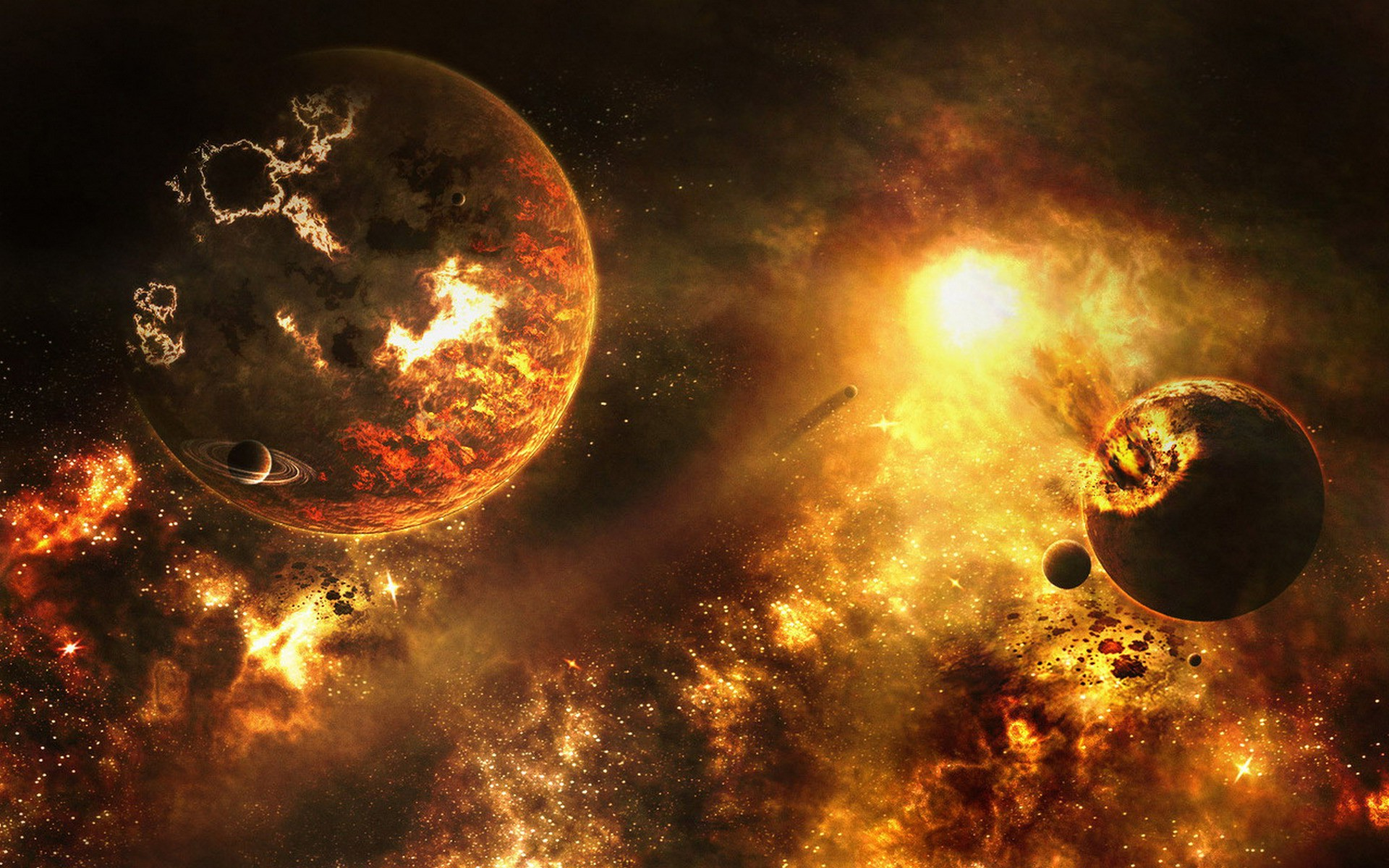 Animal Planet Wallpaper Hd Explosion Space Art Planet Sun Wallpapers Hd Desktop
