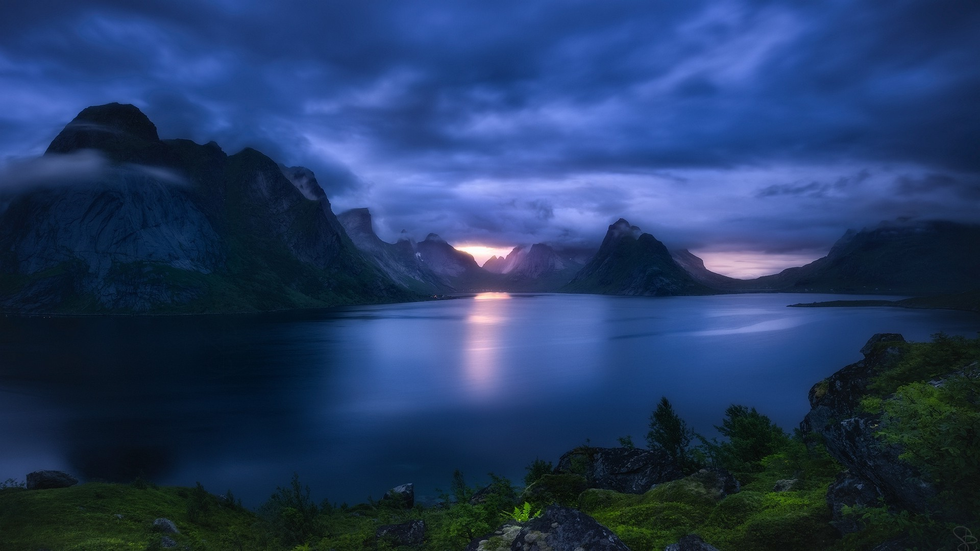 New 3d Hd Wallpapers For Pc Nature Landscape Fjord Lofoten Islands Norway Sunset