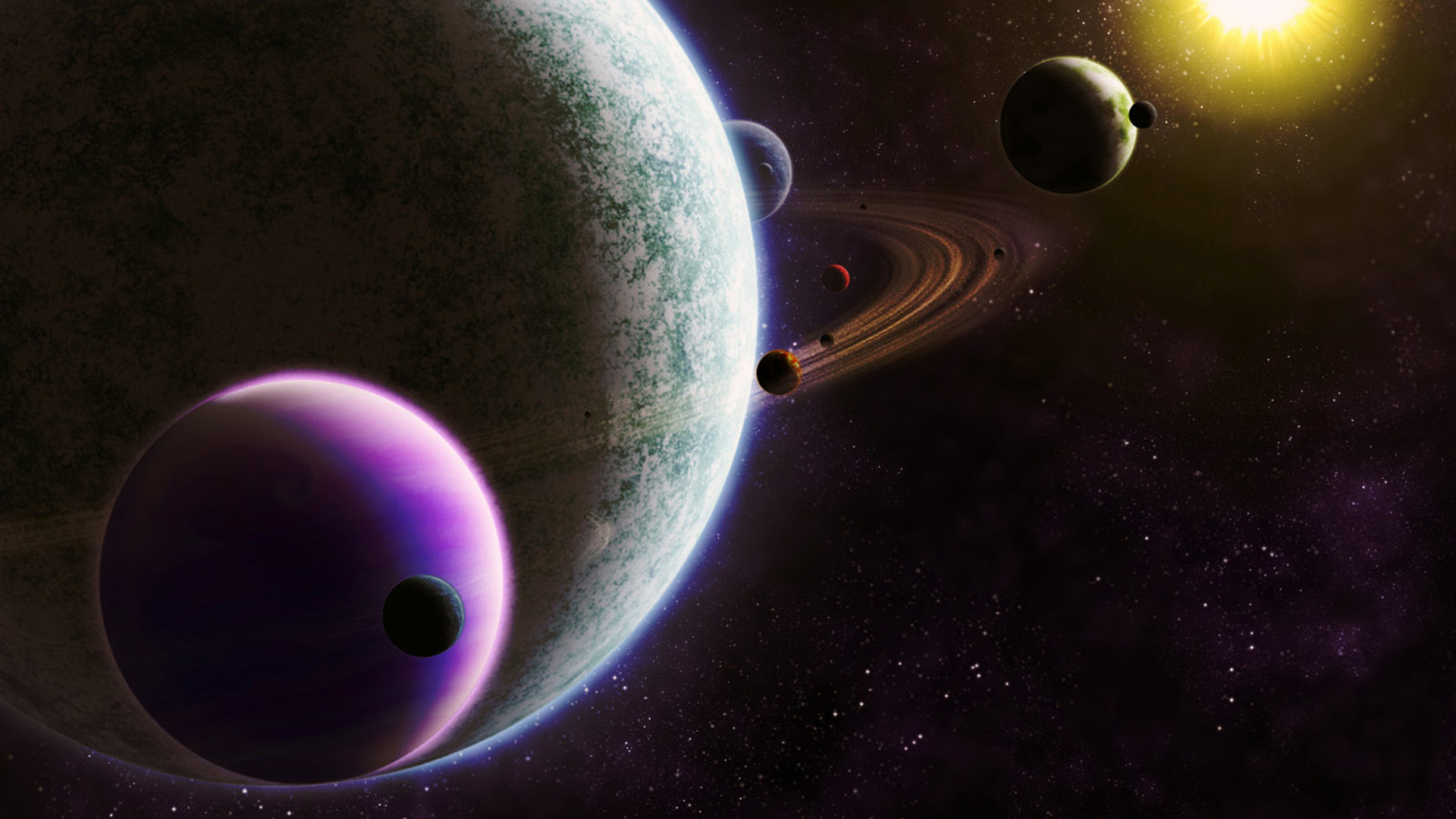 3d Solar System Live Wallpaper For Android Space Planet Planetary Rings Space Art Wallpapers Hd