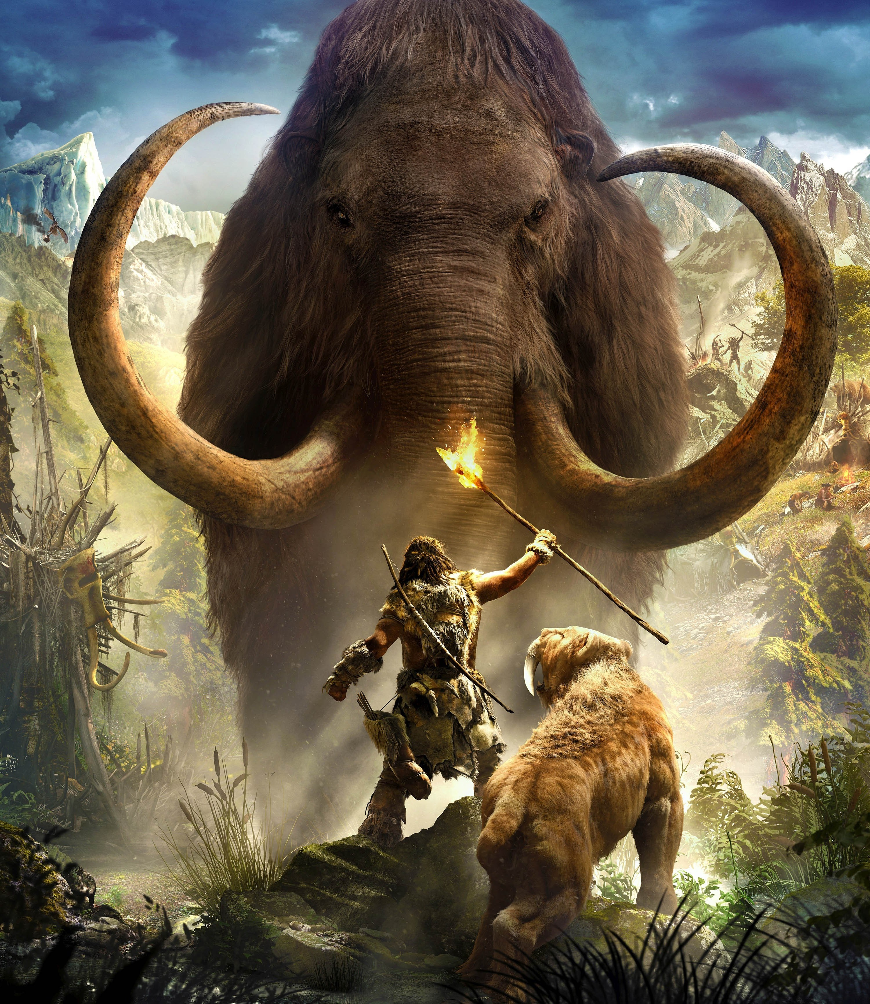 Saber Tooth Tiger 3d Wallpaper Far Cry Primal Artwork Video Games Wallpapers Hd
