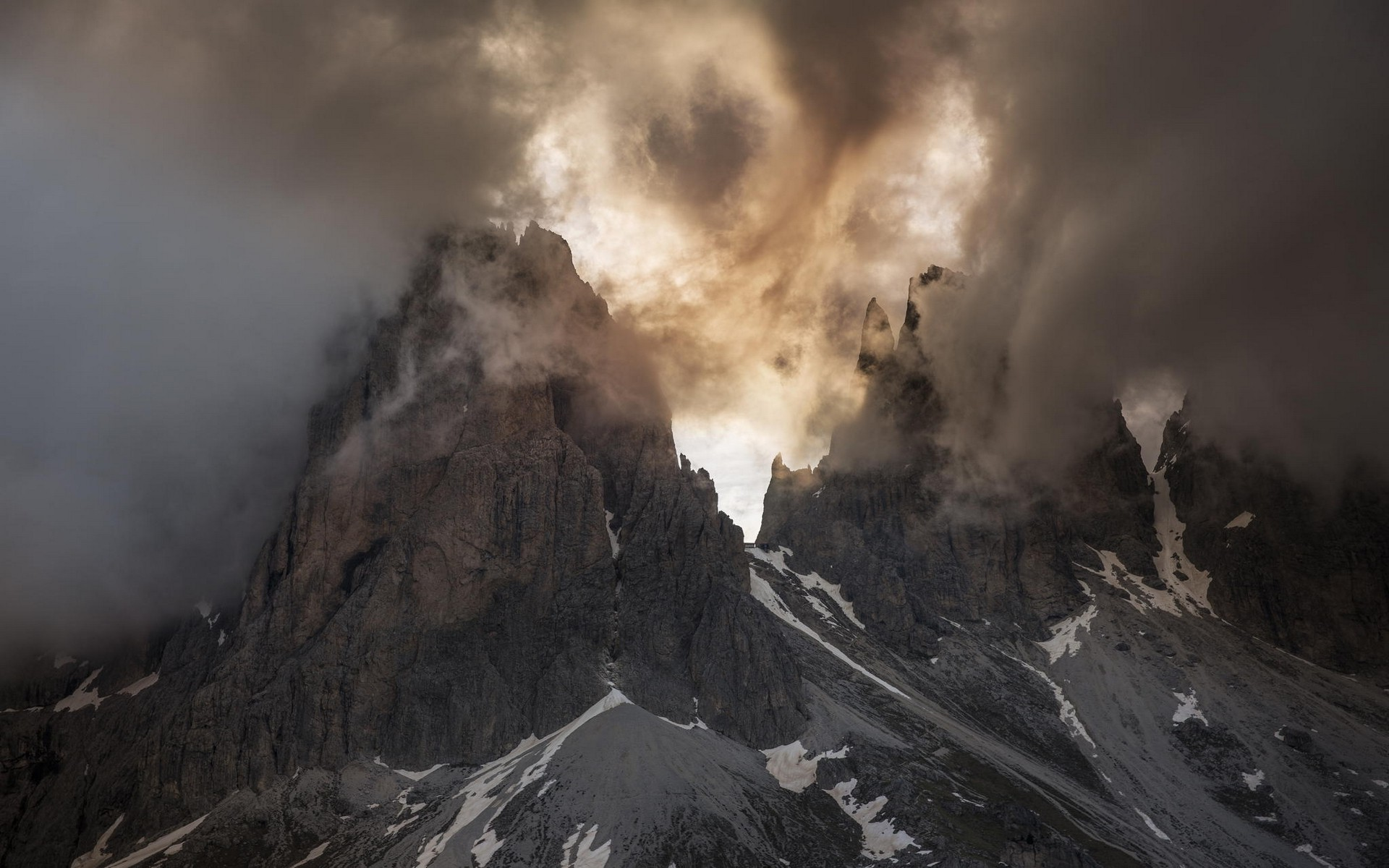 3d Wallpapers For Spring Nature Landscape Mountain Clouds Spring Dolomites