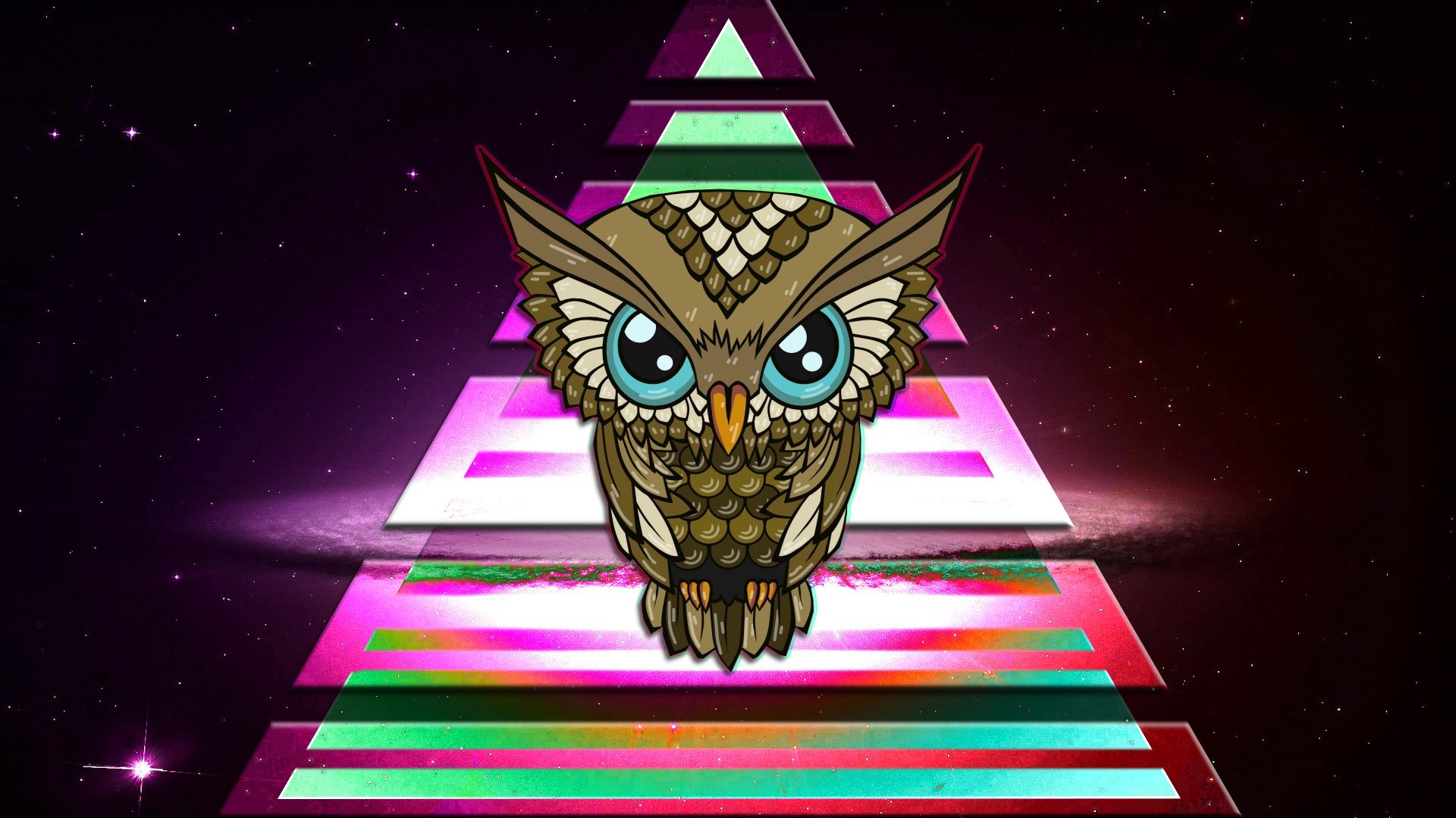 Cool Gravity Falls Wallpapers Owl Triangle Colorful Space Illuminati Wallpapers Hd