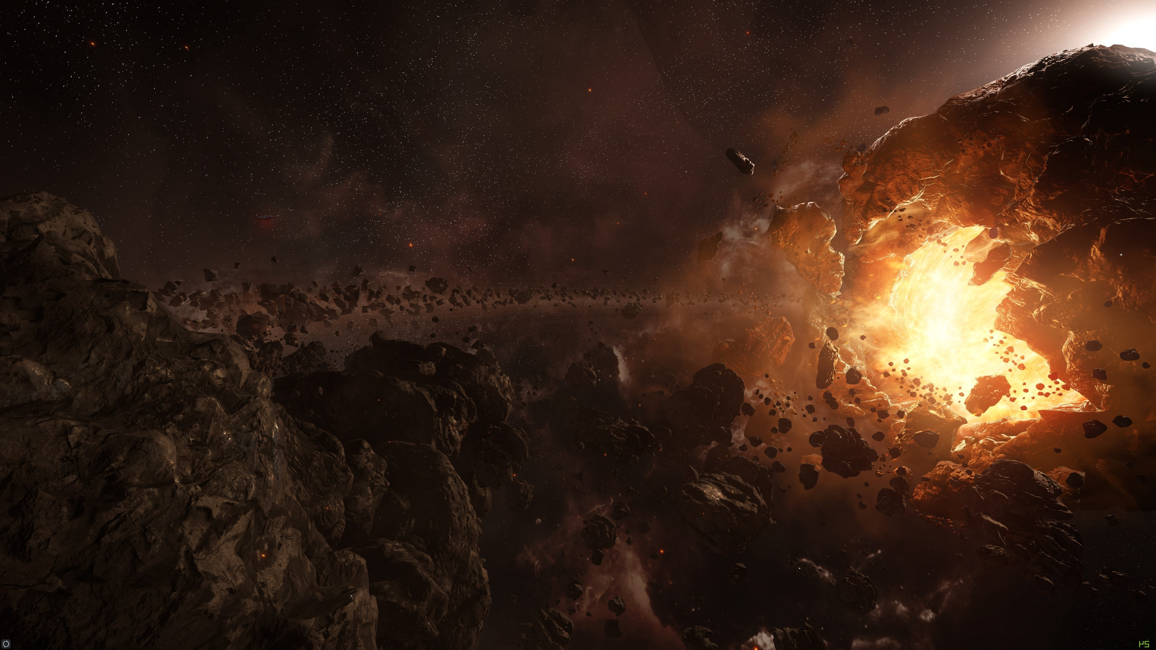 3d Asteroid Wallpaper Space Asteroid Star Citizen Wallpapers Hd Desktop And