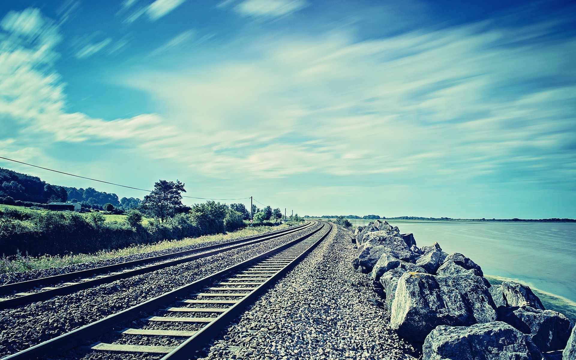 Cars Hd Mobile Wallpapers Photography Nature Railway Rock Coast Sea Water