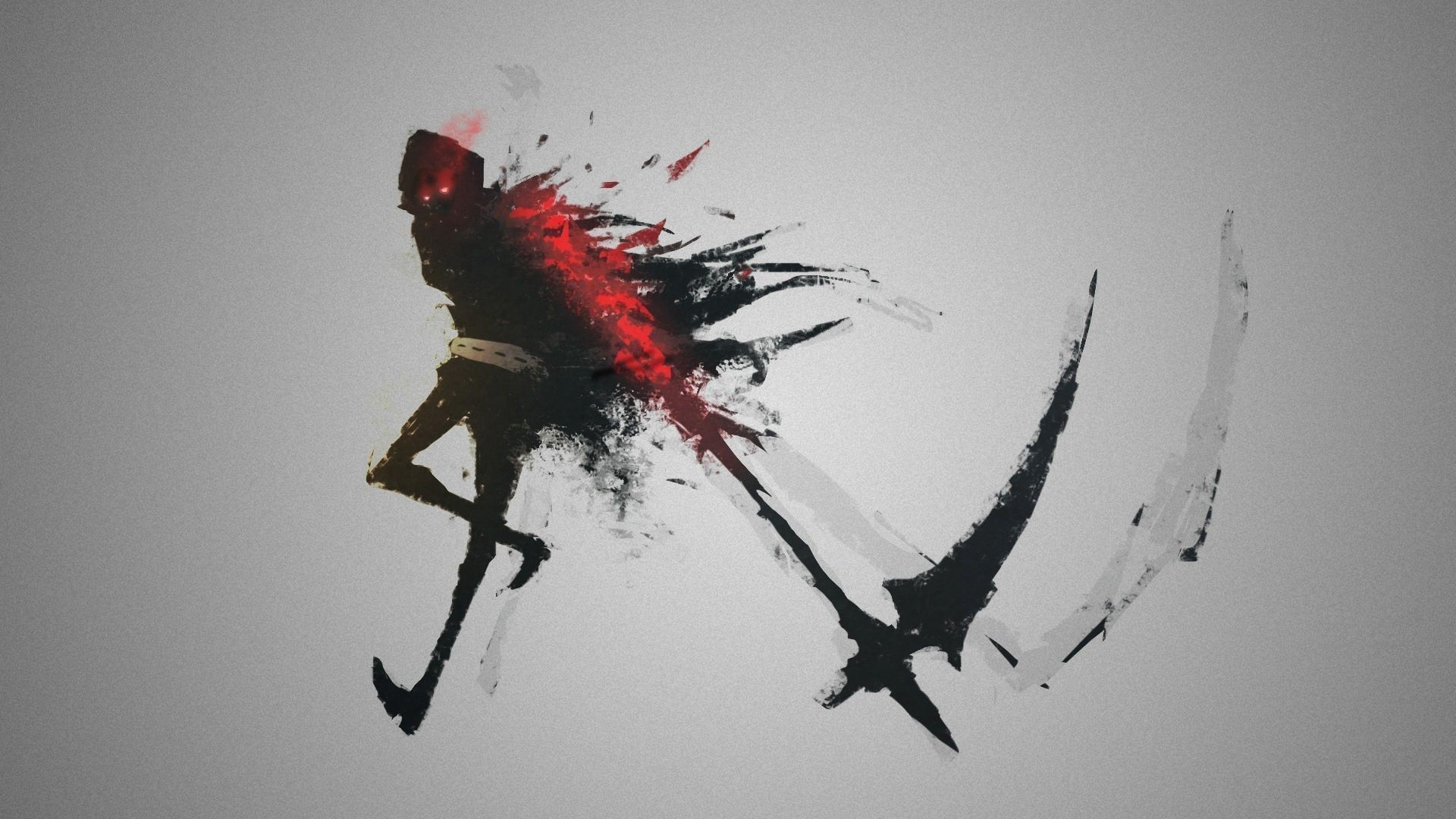 Dark Blood Wallpaper Grim Reaper Artwork Concept Art Simple Background Fantasy Art