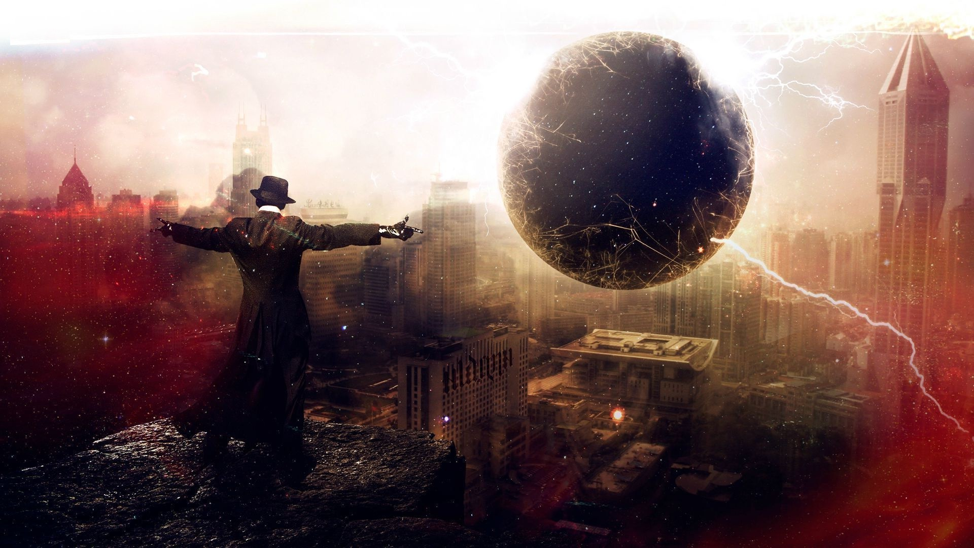 3d Graphic Wallpaper 1280x1024 Men Artwork Digital Art Fantasy Art Black Holes City
