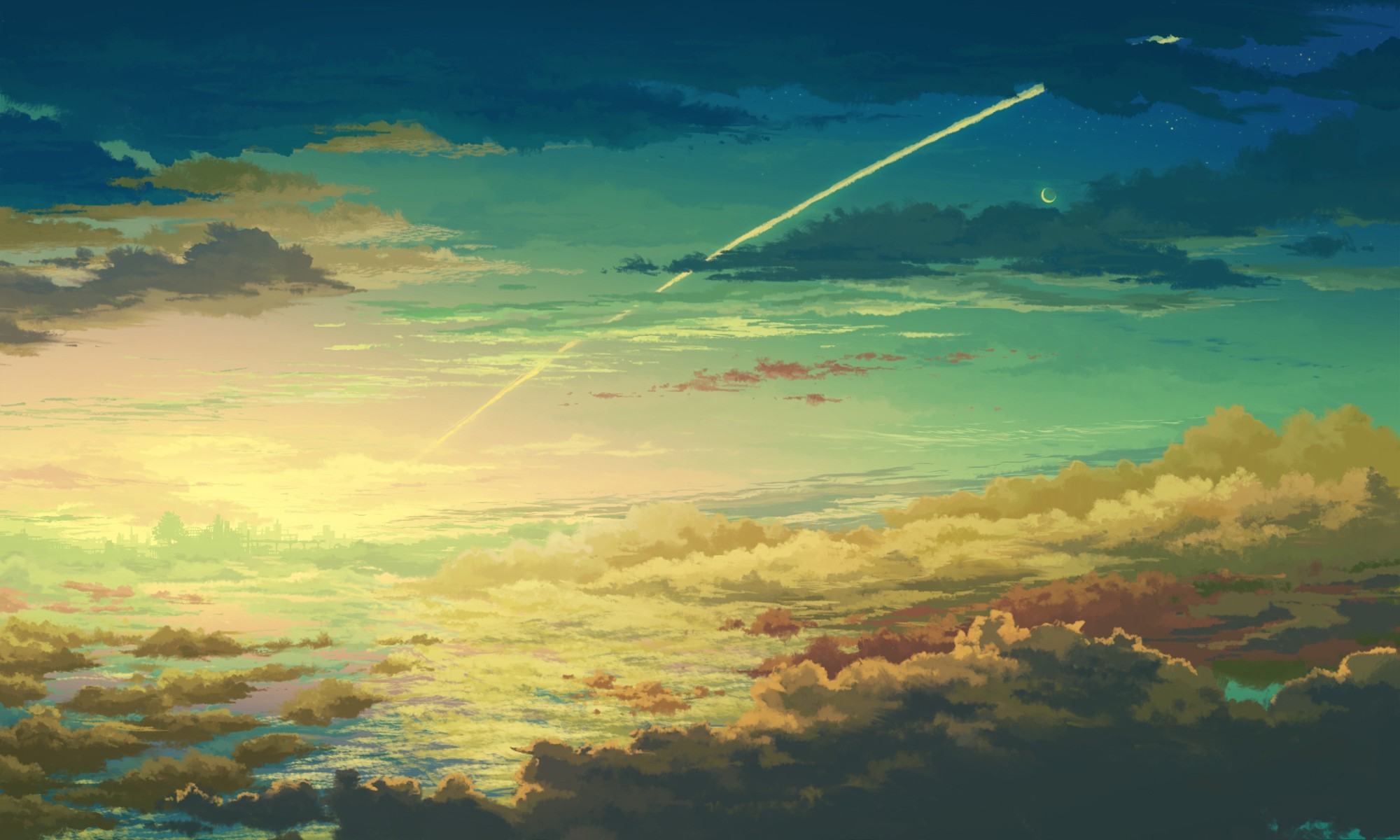Retro Wallpaper Iphone Clouds Space Anime Wallpapers Hd Desktop And Mobile