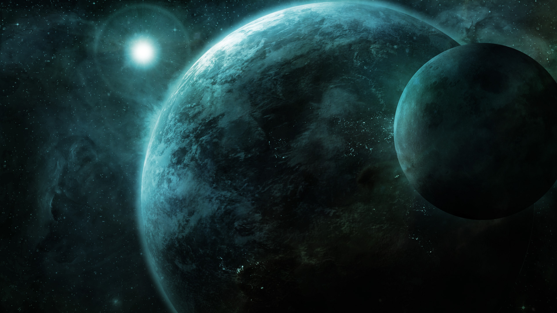 3d Futuristic Wallpapers Space Planet Moon Digital Art Wallpapers Hd Desktop
