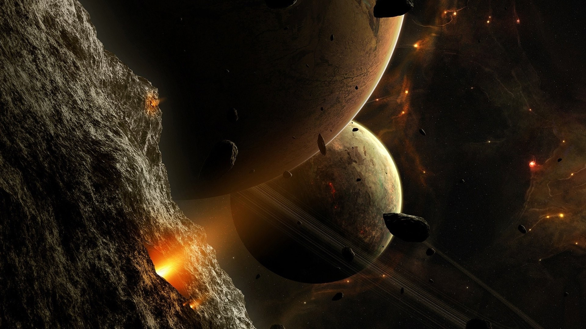 3d Asteroid Wallpaper Space Planet Stars Space Art Asteroid Wallpapers Hd
