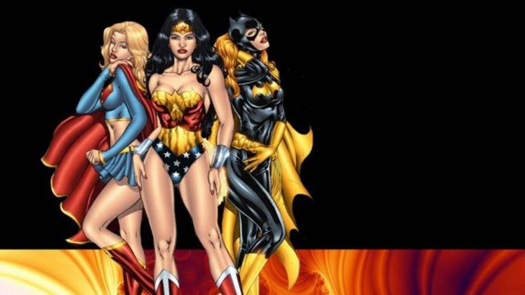 Wallpaper Superhero Marvel 3d Comics Batgirl Wonder Woman Supergirl Superheroines