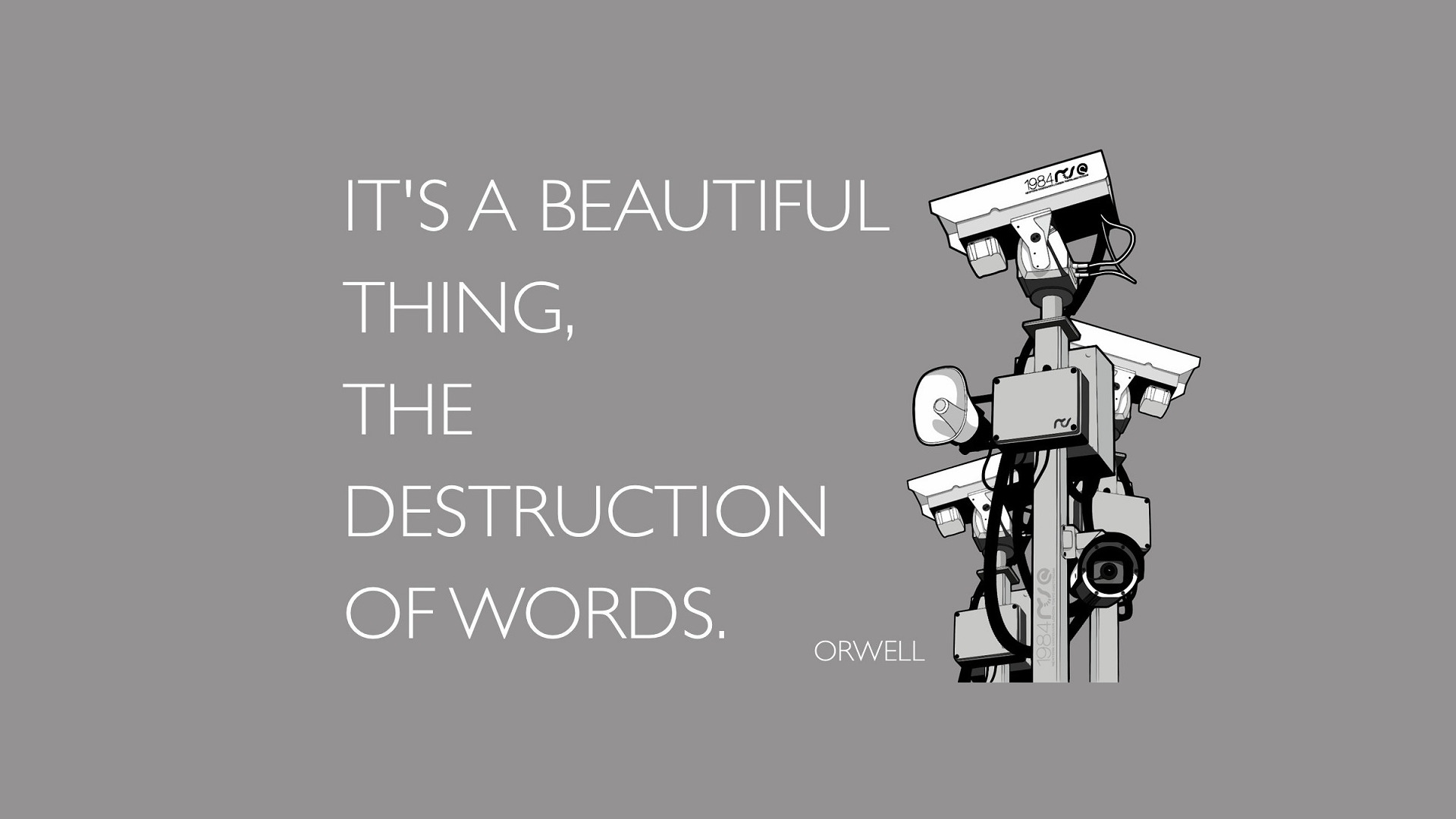 Cosmos Quotes Wallpaper Literature Quote George Orwell 1984 Wallpapers Hd