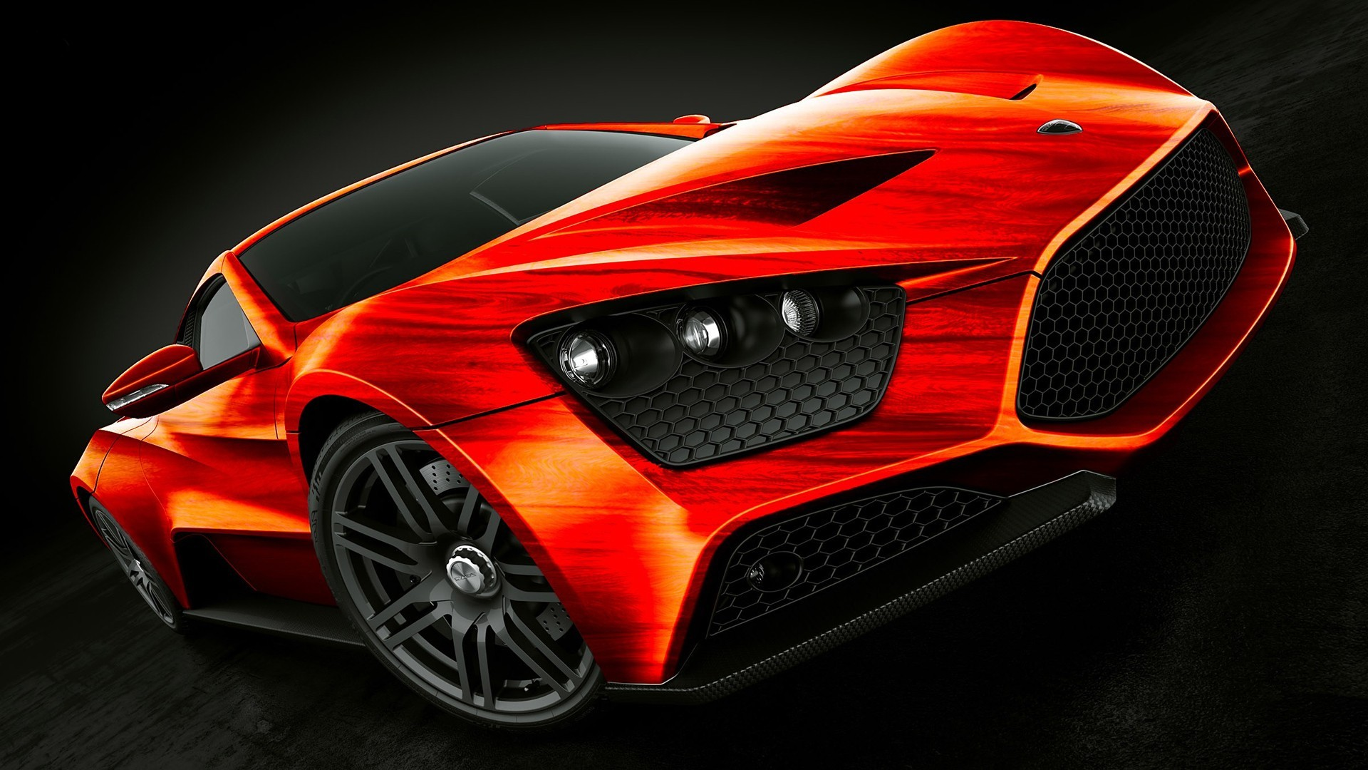 Super Car 5760x1080 Wallpaper Car Orange Zenvo Zenvo St1 Supercars Wallpapers Hd