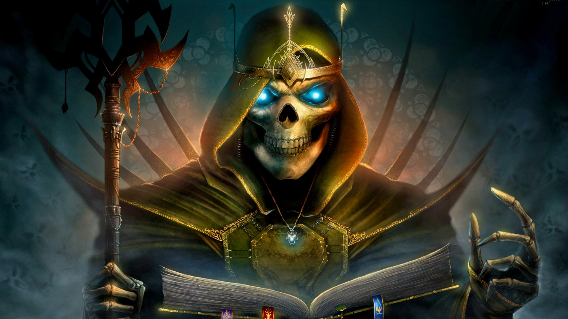 3d Anaglyph Wallpaper Desktop Heroes Of Might And Magic Fantasy Art Death Wallpapers