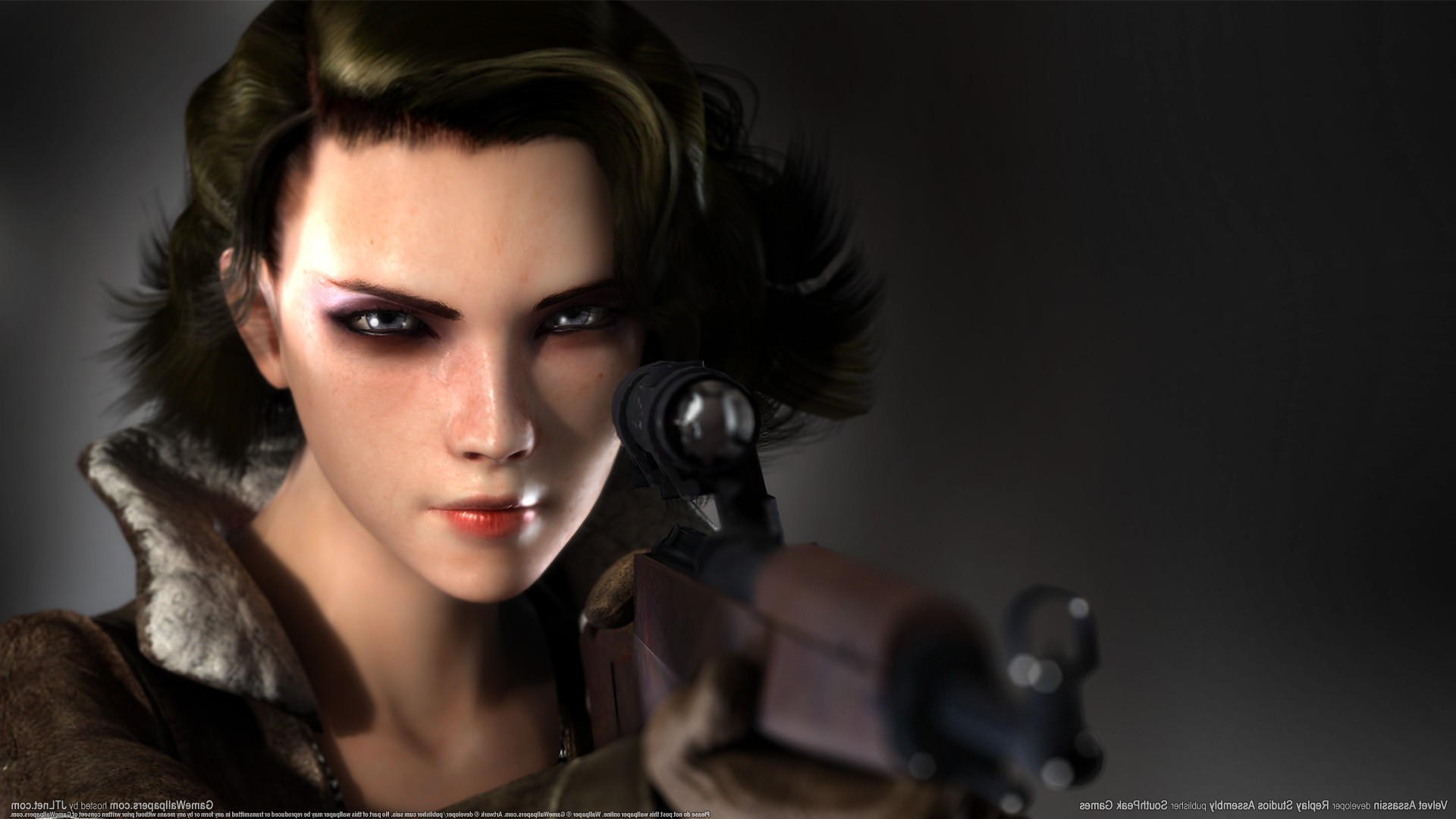 3d Women Abstract Wallpapers Velvet Assassin Video Games Sniper Rifle Women
