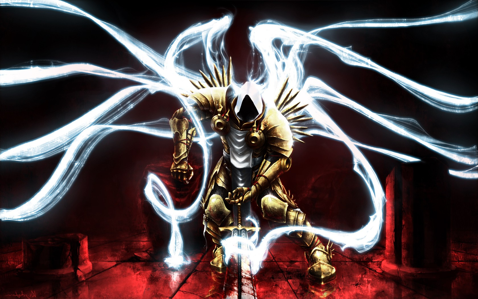 Diablo Hd Wallpaper Sword Video Games Angel Diablo Blood Wallpapers Hd