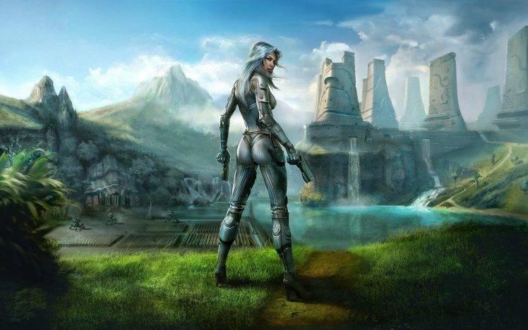 Wallpaper Supernatural 3d Science Fiction Artwork Digital Art Women Wallpapers Hd