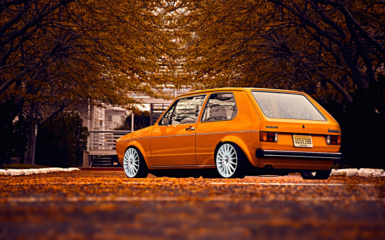 Car 5760x1080 Wallpaper Car Old Car Volkswagen Golf 1 Stance Wallpapers Hd