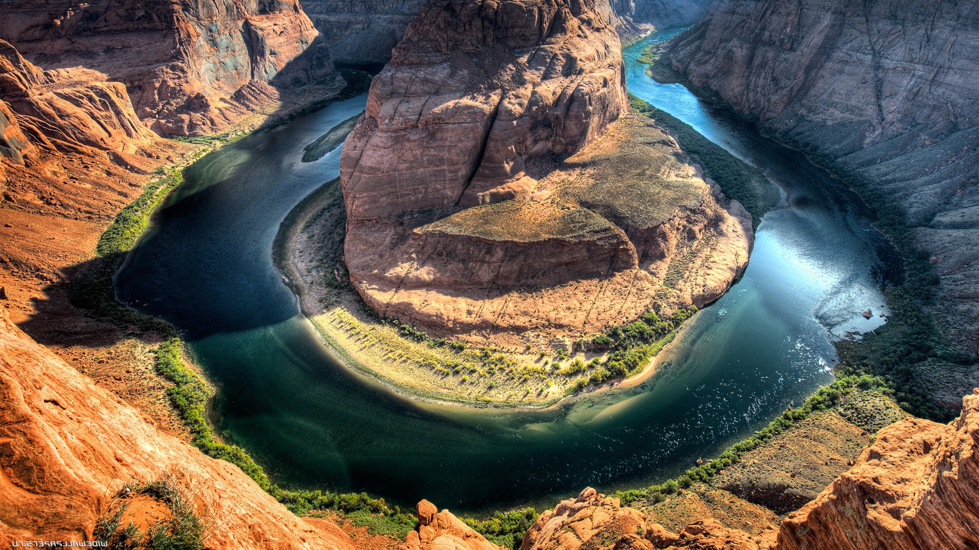 3d Wallpapers For Windows 8 Hd Free Download Nature River Canyon Horseshoe Canyon Wallpapers Hd