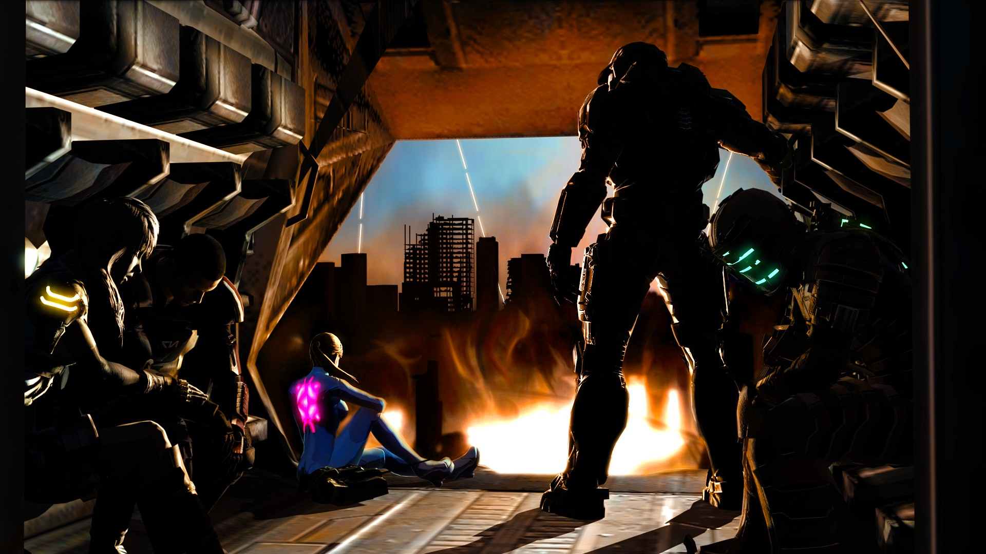 3d Effect Wallpaper For Mobile Dead Space Mass Effect Final Fantasy Xiii Halo Metroid