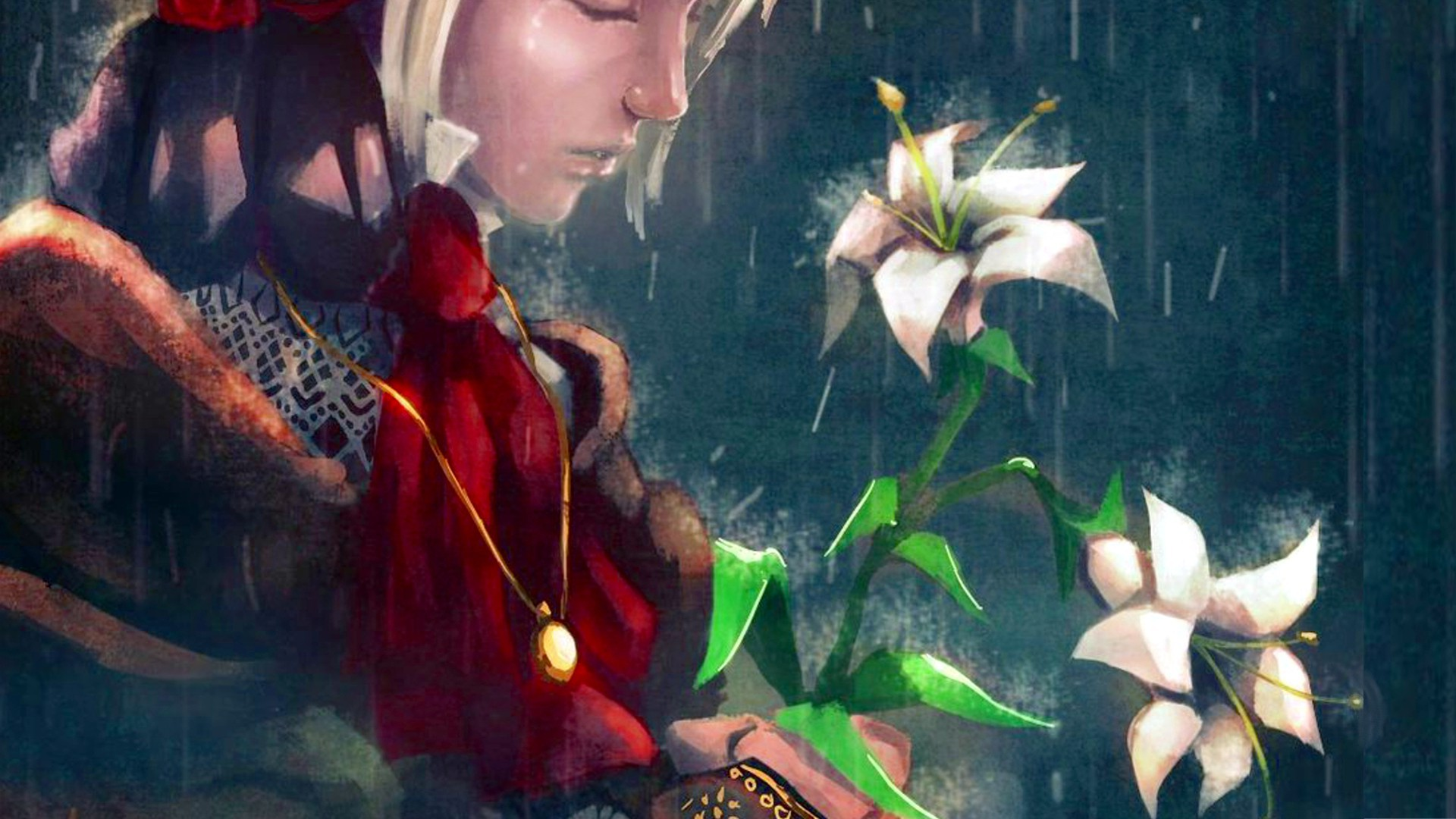 Sad Boy And Girl Full Hd Wallpaper Doll Flowers Women Rain Crying Wallpapers Hd Desktop