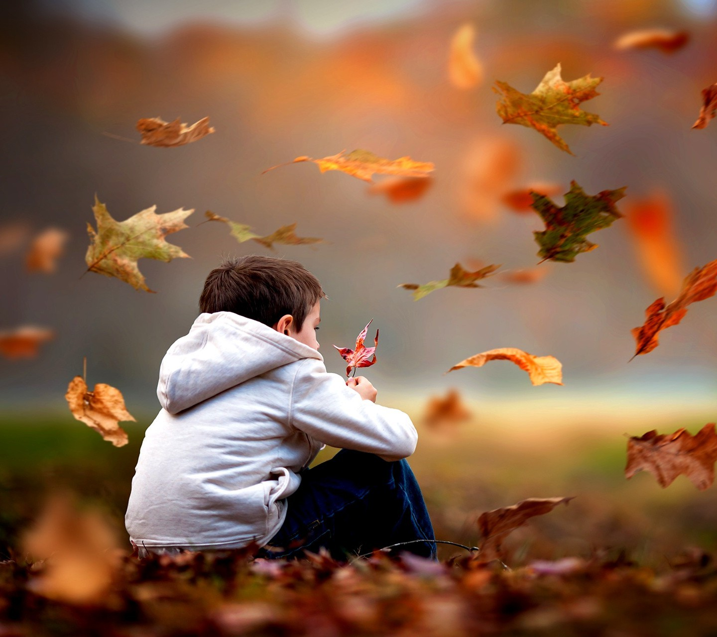 Sad Boy And Girl Wallpaper Full Hd Nature Leaves Children Wallpapers Hd Desktop And