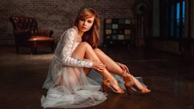 Georgiy Chernyadyev, Anastasia Scheglova, Women, Blonde, Legs, Model, Dress, White Dress, See ...
