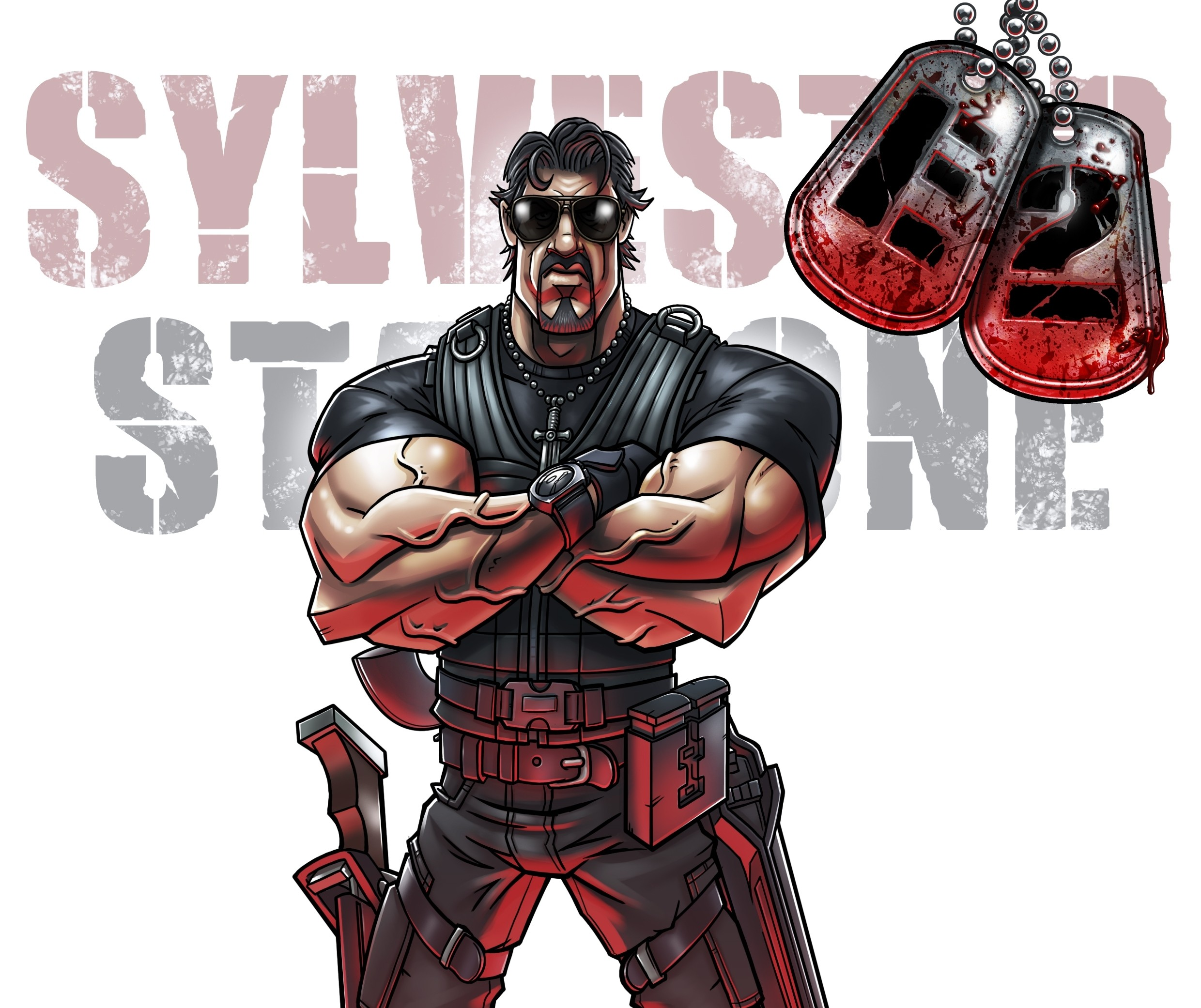 Popeye Wallpaper 3d Sylvester Stallone Drawing Movies The Expendables 2