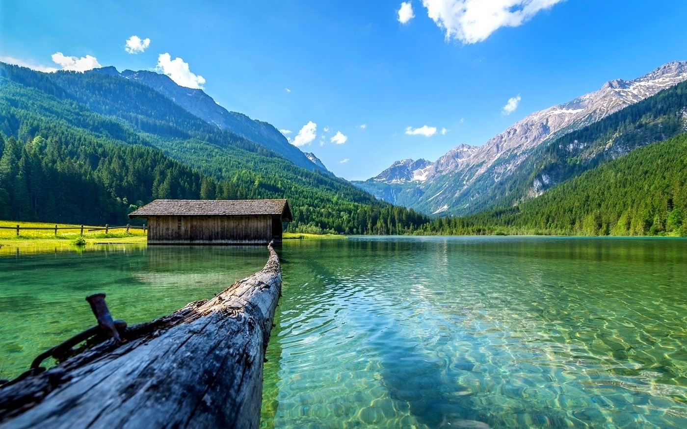 Best Wallpapers Hd Pro Lake Nature Boathouses Mountain Landscape Log Summer